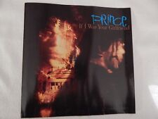 """Prince """"If I Was Your Girlfriend"""" PICTURE SLEEVE!! BRAND NEW!!"""