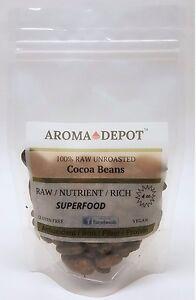 Raw Cacao / Cocoa Beans Raw Chocolate Arriba Nacional Bean From Ecuador Pure