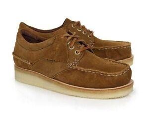 Clarks Originals Wallace Cola Brown Wallabee Moc Toe Shoes $190 Men's 7.5 US New
