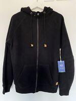 Mens TENTREE Black Fleece Zip Up Hoodie Brand New With Tags Size Medium