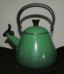 Le Creuset Emerald Green Enamel WhistlingTea Kettle,1.7 qt