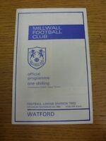 08/11/1969 Millwall v Watford  . Thanks for viewing this item, we try and inspec