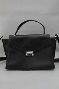Michael Kors Black Leather Shoulder Bag Satchel Handbag