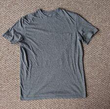 Grey Sainsburys TU Crew Neck Short Sleeve T-Shirt Top with Pocket (Small)
