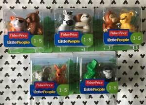 5 x 2Pk (10) Fisher Price Little People Zoo/Safari/Jungle Animals 🦓🦍🦥🦘🐒🐊🐻