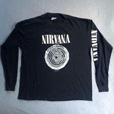 Vintage NIRVANA 1992 T-SHIRT L/S VESTIBULE FUDGE PACKIN KURT COBAIN CREW 90s