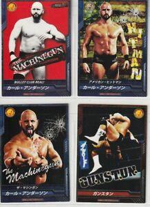 2012-2013  Karl Anderson KING OF PRO-WRESTLING GAME CARD Set of 4