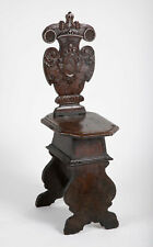 Italian Baroque Carved Walnut Sgabello Side Chair
