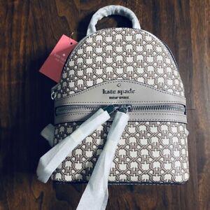 NEW Kate Spade Mini Convertible Backpack Crossbody Bag White Multi Spade Link