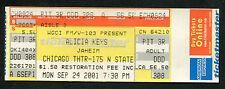 Original 2001 Alicia Keys unused concert ticket Chicago Songs In A Minor