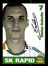 Stefan Kulovits Autogrammkarte Rapid Wien 2008-09 Original Signiert+159246