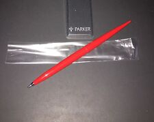Vintage Parker Jotter Desk Ball Point Pen, Red + Red Ink USA Made NOS!
