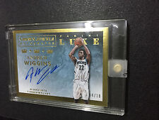 2015-16 Luxe Andrew Wiggins Crown Jewwls Auto Autographs Gold #04/10 Timberwolve