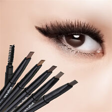 Automatic Eyeliner Eyebrow Pencil With Brush Waterproof Rotatable Double Head