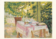 Pierre Bonnard Table set in a Garden Postcard used VGC