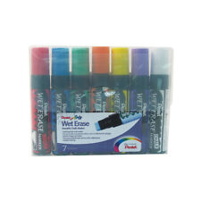 Pack of 7 Pentel Liquid Chalk Marker Pens Jumbo 10mm-15mm Chisel Nib Chalkboard