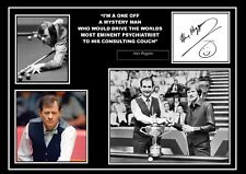 STUNNING QUALITY ALEX HIGGINS SIGNED / AUTOGRAPHED PRINT