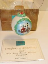 WDCC 2000 PLUTO'S CHRISTMAS TREE ORNAMENT in BOX with CofA Minnie Donald Goofy