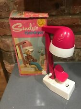 Vintage Pedigree. Sindy's Hairdryer 60's Rare Pink With Box Not Tested