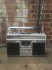 Vintage Hitachi TRK-7200E Ghetto Blaster Boom Box Portable Cassette Tape Radio