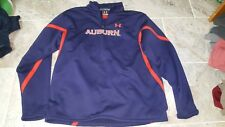 Auburn Under Armour 1/4 Zip Sweatshirt With War Eagle On Back Size Medium NICE