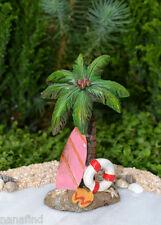 Miniature Dollhouse FAIRY GARDEN ~ Sea BEACH Island Palm Tree with Surfboard