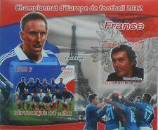 Football Team 2012 France F. Ribery L. Blanc Mali s/s IMPERF #P228