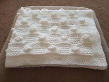 hand knitted baby Pram blankets