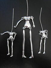 3x Silver Body - Jewellery making - Craft etc - 1 large - 2 small - no wings