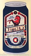 Dave Matthews Fiddlers Green Englewood CO. 8/29/15 Official concert poster s/n