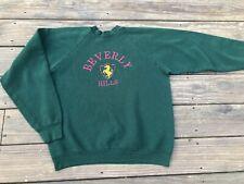 Vintage Beverly Hills Fruit of the Loom Sweatshirt Green Adult XL