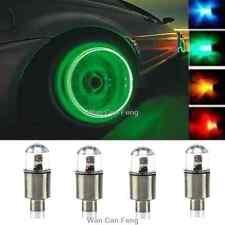 Universal 4 X Green LED Autos Wheel Tyre Tire Air Valve Stem Cap LED Light Lamp