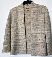 1990's Vintage Casual Corner Beige Wool Blend Open Cardigan Sweater Size M