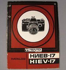Book Kiev-17 Camera Catalogue Manual Russian Soviet Vintage Old Repair Parts