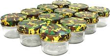 4oz Glass Jars W/ Lids Small Mason Jars Wide Mouth Mini Canning Jars With Camo