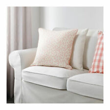 """IKEA LUNGORT PILLOW 20X20"""" 100% DUCK FEATHER INSERT PINK WHITE FLORAL NOP FREESH"""