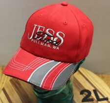 JESS FORD AUTO DEALER PULLMAN WASHINGTON HAT RED EMBROIDERED STRAPBACK EUC 2L