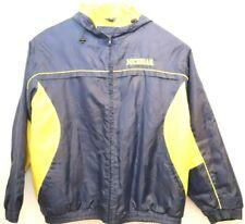 Mens Vintage 90s Gear Full Zip Coat Michigan Wolverines Navy Yellow Rare SZ 2XL