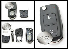 Fits VW Transporter T5 Polo GOLF Polo 2 Button Remote Key FOB case + battery