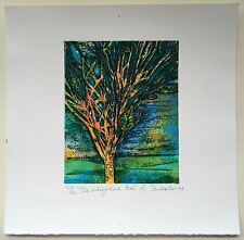 Anna Nicholson The Enlightened Tree 737/900 Puerto Rico Serigraph 2008 Art