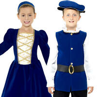 Medieval Tudor Kids Fancy Dress Historical English Renaisaance Childrens Costume