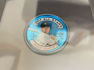"1964 Topps Coin #131 AS Mickey Mantle Right Handed Rare ""VG-EX"" HOF Yankees"