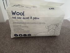 Fogarty Little Sleepers All Seasons Wool Cot Bed Duvet and Pillow Set