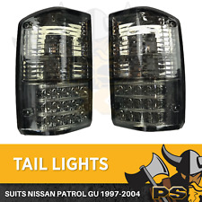 Black Smoked LED Tail lights for Nissan Patrol GQ 1988-1997 Series 1 2