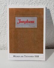 Junghans Katalog 1938, Wecker und Tischuhren, Uhrenbuch, Musterbuch