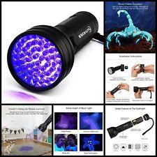 Uv Flashlight Black Light 51 Led 395nM Detector For Dog Urine Pet Stains Bed Bug