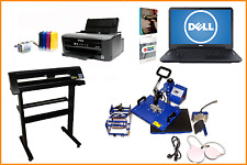 A4 Sublimation Package Laptop Press Printer CISS INKS Cutter Set Up Ready To Use