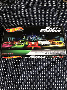 Hot Wheels Fast and Furious Premium Box Set Limited Edition