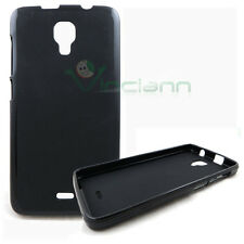 Pellicola+Custodia TPU flessibile Flexy NERA per Wiko Bloom cover case morbida