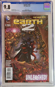 Earth 2 #19 CGC 9.8 White Pgs    Dark Knight of Earth 2 Key Book!! Kitson Cover!